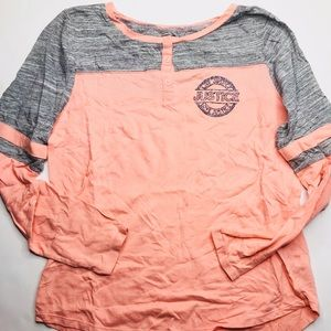GIrls Justice Quarter Sleeve Raglan Tee Adult XS